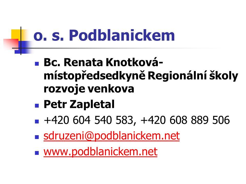 o.s. Podblanickem Bc.