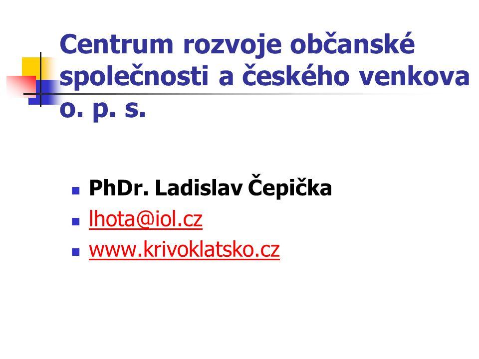 Centrum rozvoje občanské společnosti a českého venkova o.
