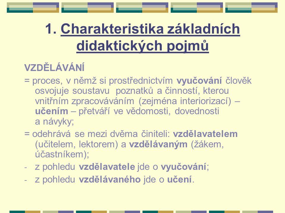 Celoživotní vzdělávání v mezinárodních dokumentech: 1993: Učící se organizace (koncepční materiál EU) 1994: Kvalita vzdělávání – odpověď na výzvy budoucnosti (dokument IRDAC) 1997: Celoživotní učení pro všechny (dokument OECD) 1998: Zaměstnanost v globální ekonomice – Jak vzdělávat pro trh práce (dokument ILO)