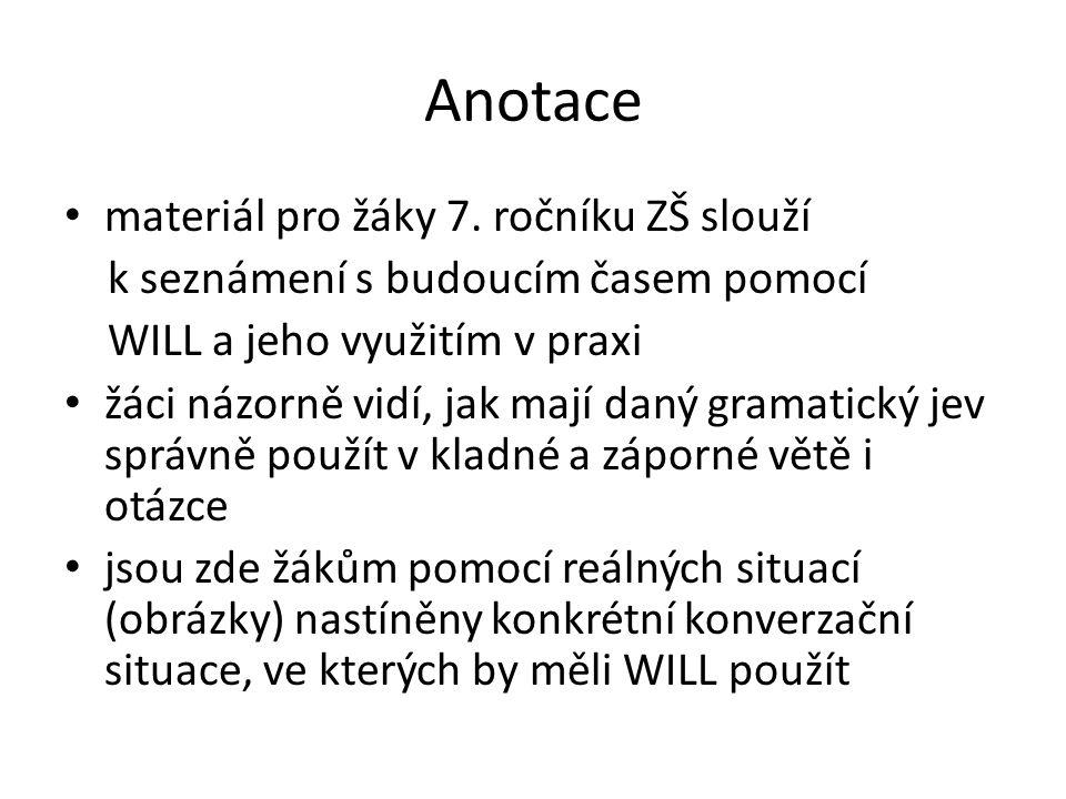 Anotace materiál pro žáky 7.