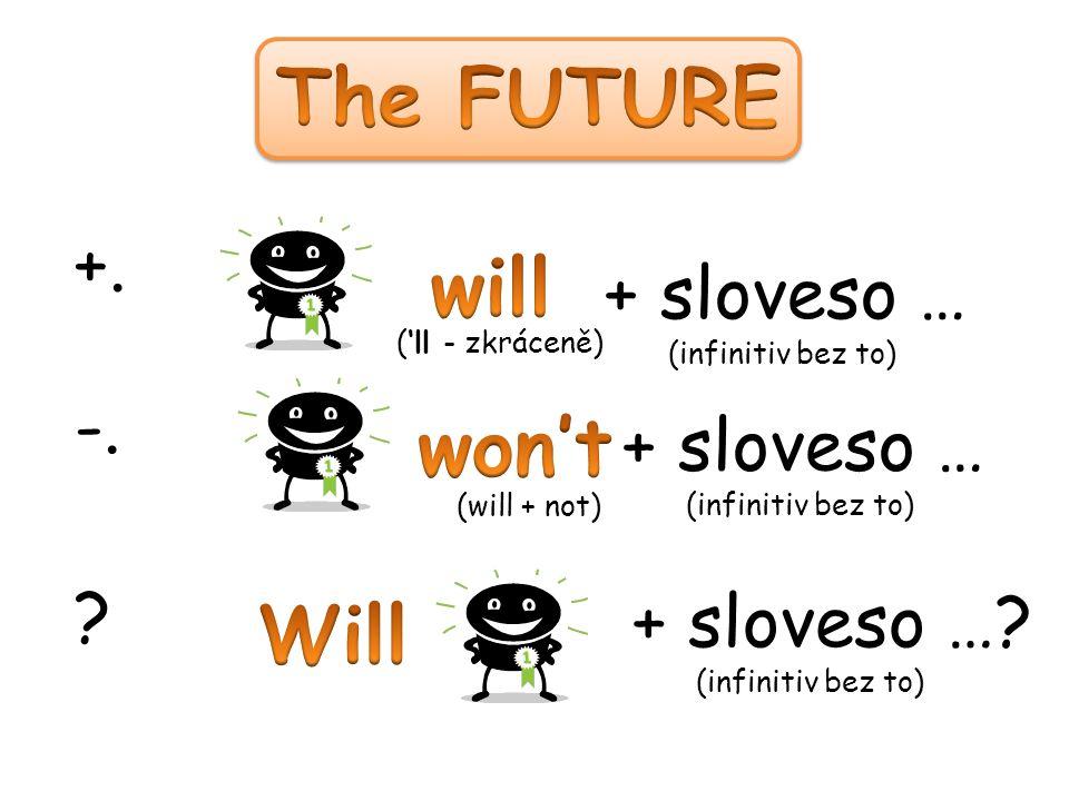 +. + sloveso … (infinitiv bez to) -. + sloveso … (infinitiv bez to) + sloveso ….