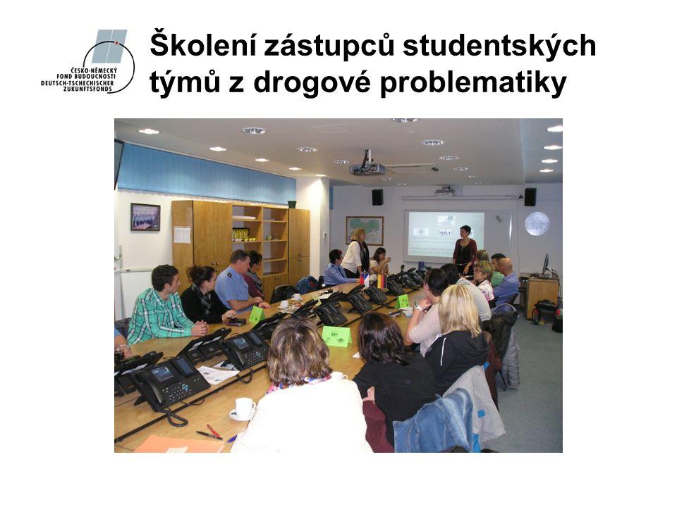 Školení zástupců studentských týmů z drogové problematiky