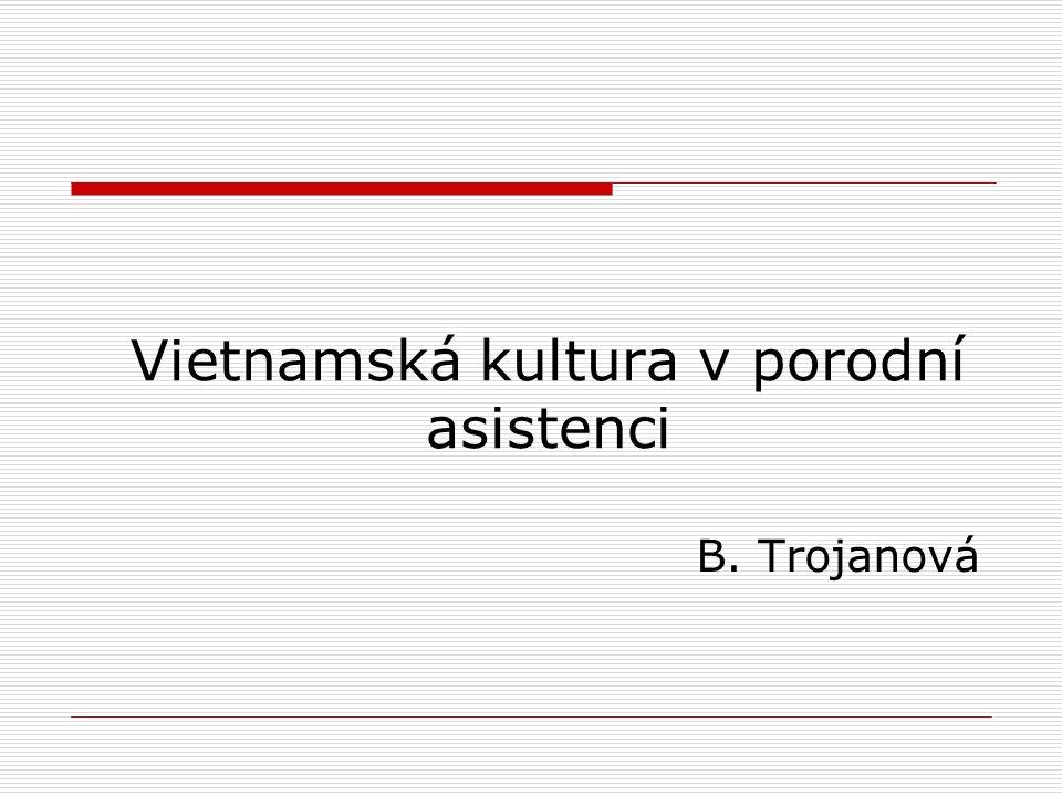 Vietnamská kultura v porodní asistenci B. Trojanová