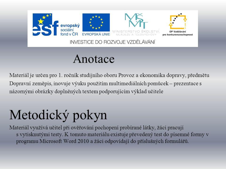TEST SILNIČNÍ KOMUNIKACE ČESKÉ REPUBLICE