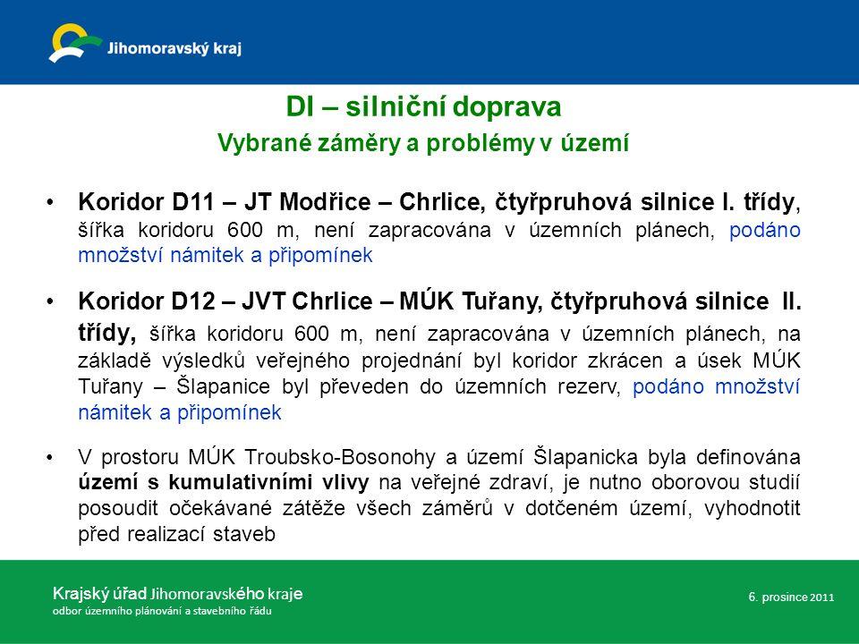 Koridor D11 – JT Modřice – Chrlice, čtyřpruhová silnice I.