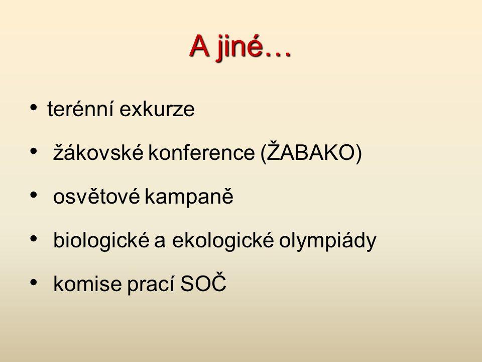A jiné… terénní exkurze žákovské konference (ŽABAKO) osvětové kampaně biologické a ekologické olympiády komise prací SOČ
