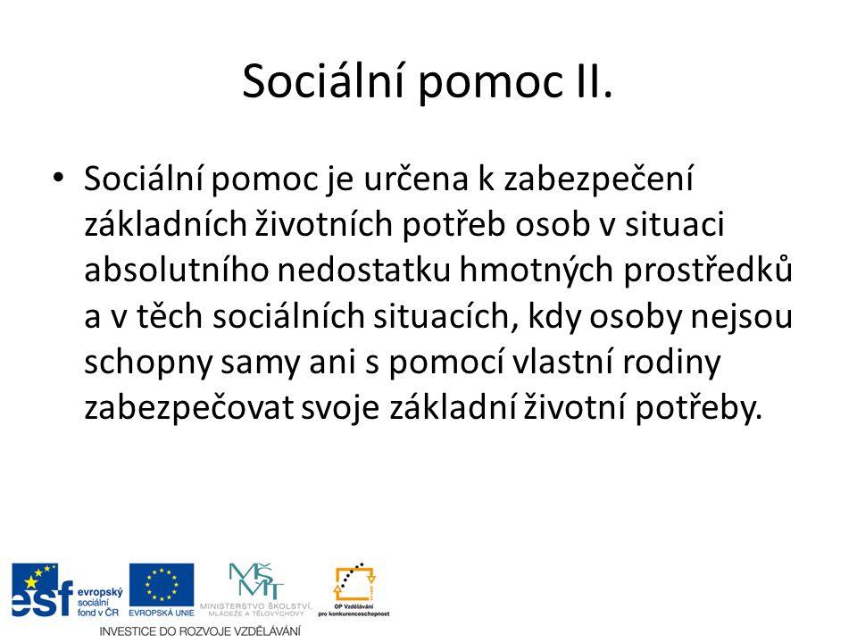 Sociální pomoc II.