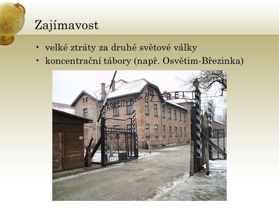 Zajímavost velké ztráty za druhé světové války koncentrační tábory (např. Osvětim-Březinka)