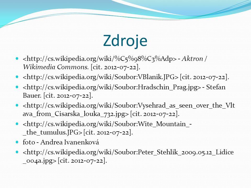 Zdroje - Aktron / Wikimedia Commons. [cit. 2012-07-22].