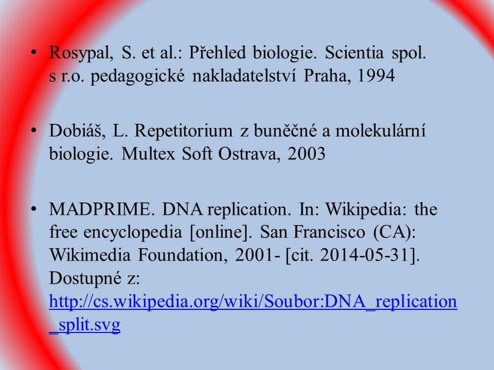 Rosypal, S. et al.: Přehled biologie. Scientia spol.