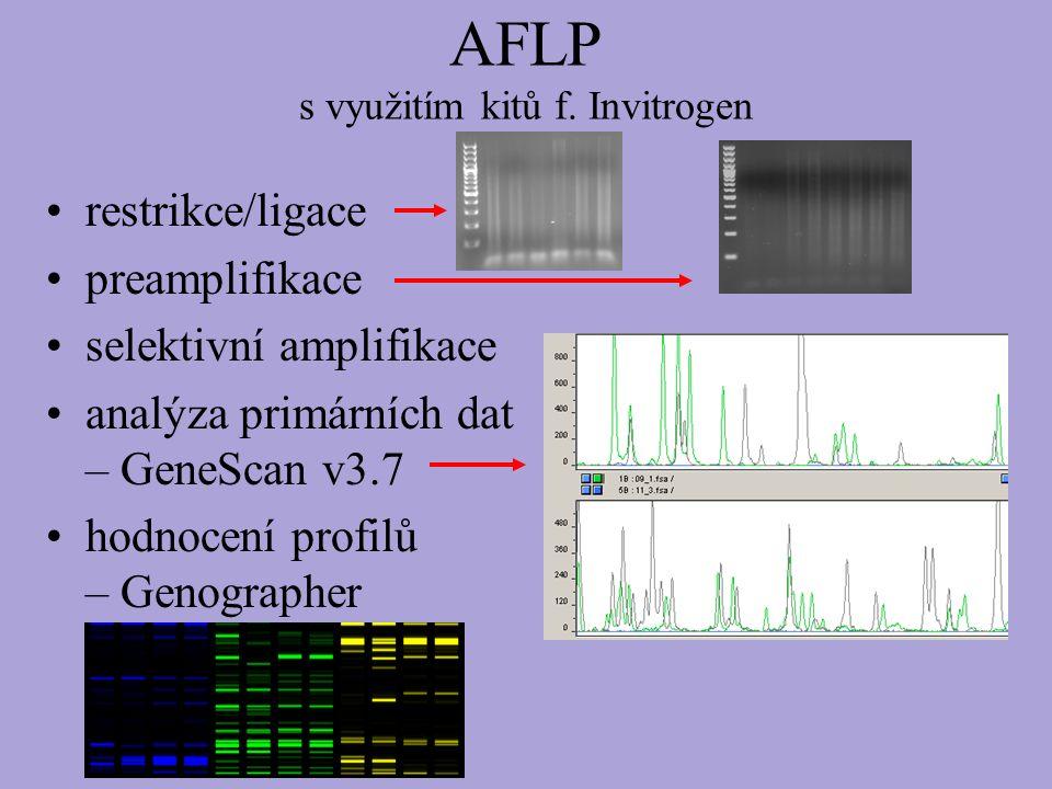 AFLP s využitím kitů f.