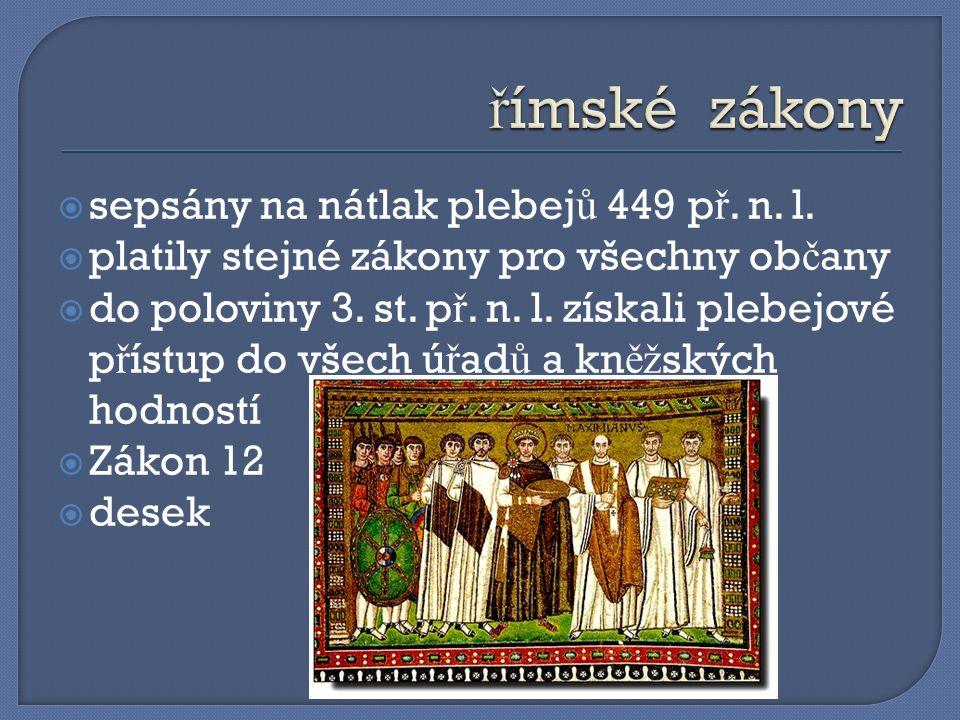  sepsány na nátlak plebej ů 449 p ř. n. l.
