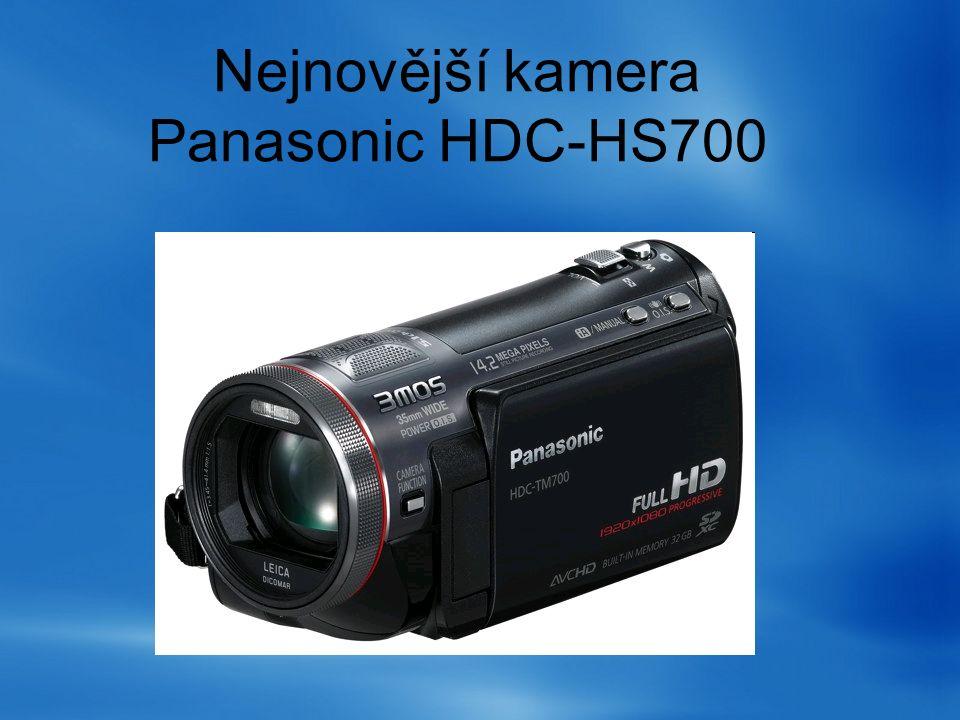 Nejnovější kamera Panasonic HDC-HS700