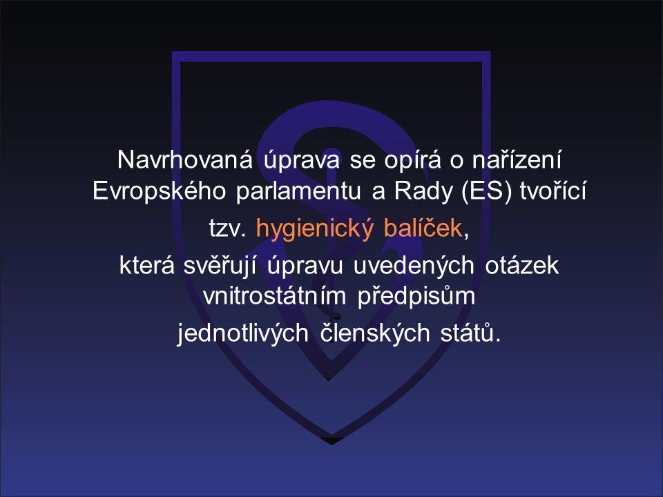 Navrhovaná úprava se opírá o nařízení Evropského parlamentu a Rady (ES) tvořící tzv.