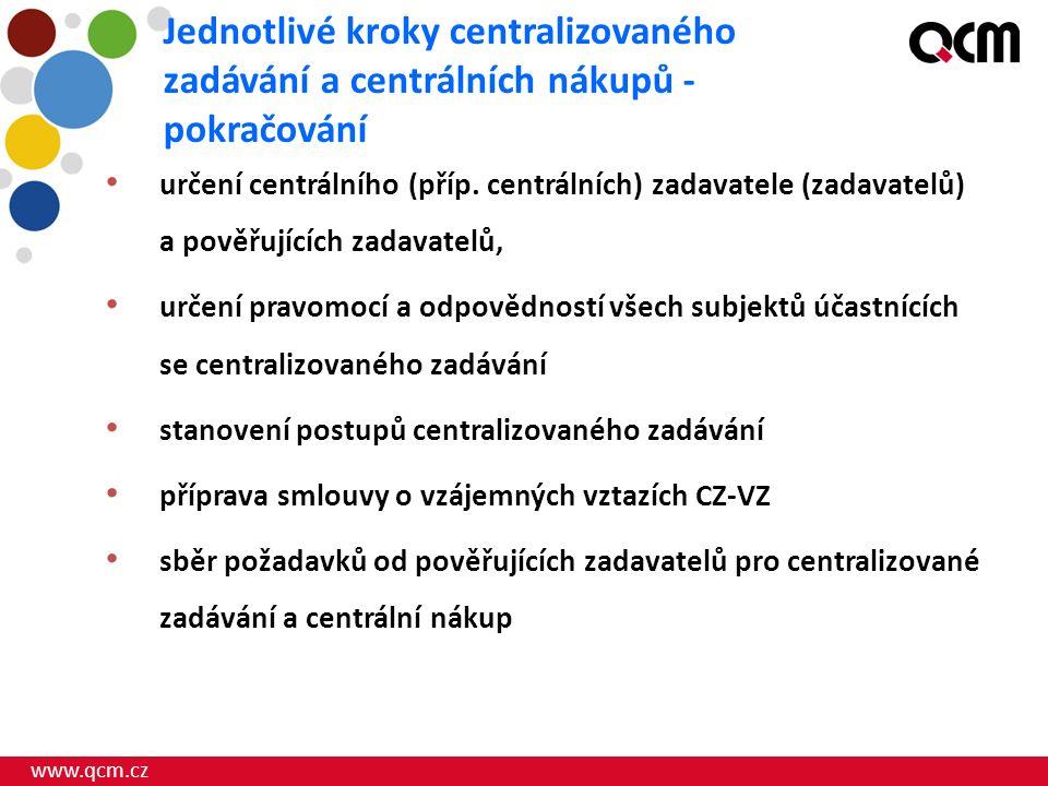 www.qcm.cz určení centrálního (příp.