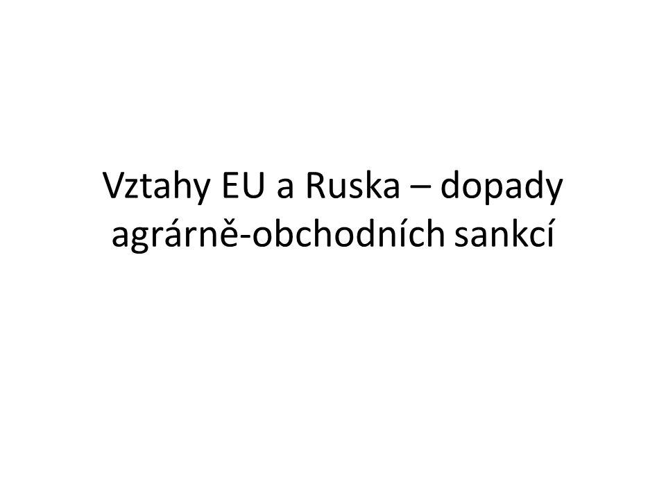 Vývoj agrárního obchodu mezi Ruskem a Evropskou Unií