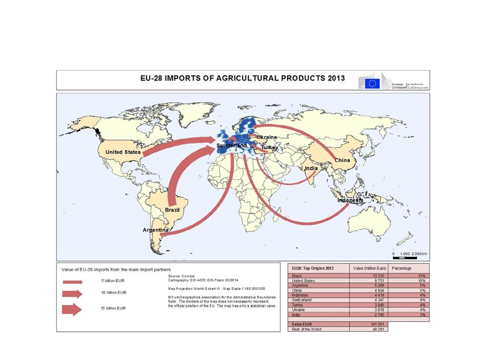 Komoditní struktura agrárního obchodu zemí EU