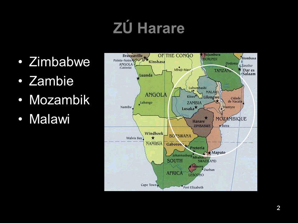 ZÚ Harare Zimbabwe Zambie Mozambik Malawi 2