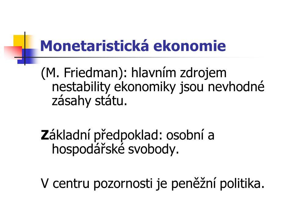 Monetaristická ekonomie (M.