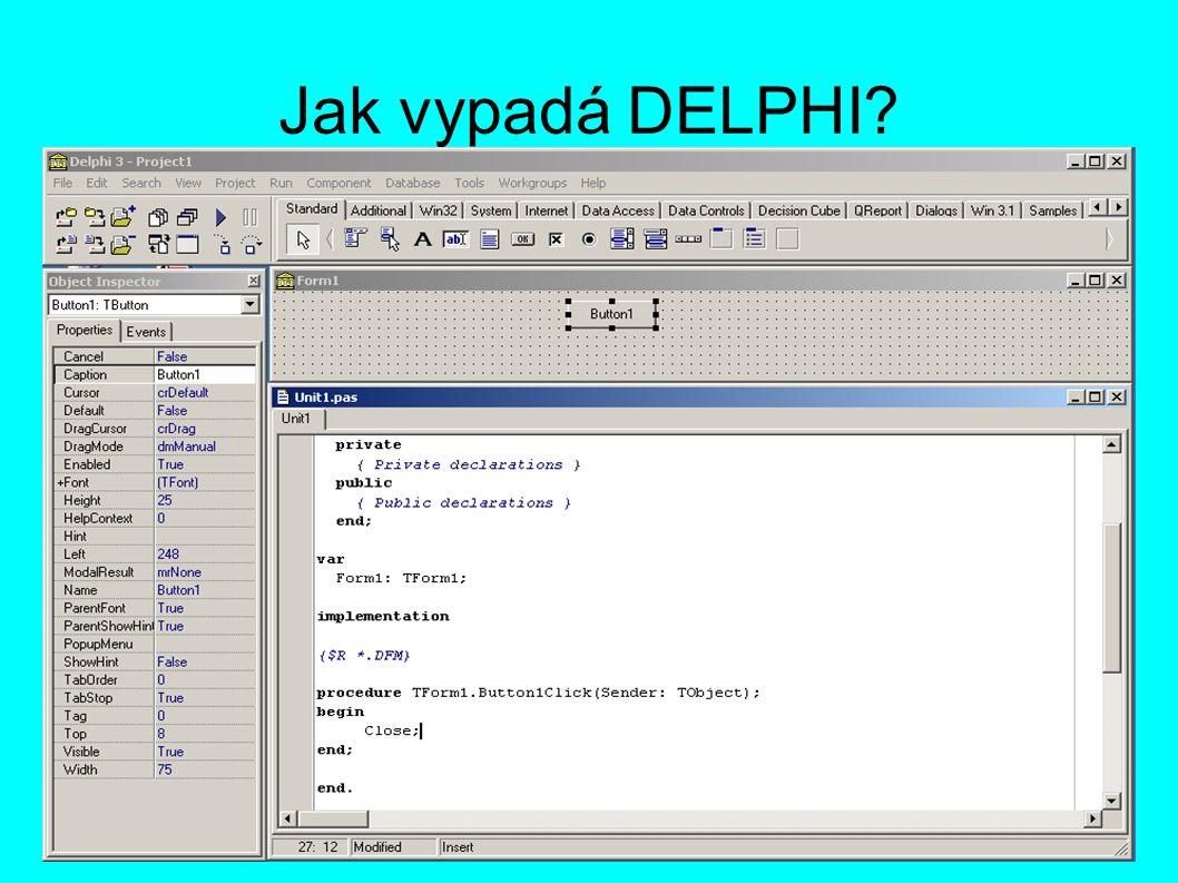 Hlavní okno prostředí Nabídka komponent, nainstalovaných v prostředí (lze přiinstalovávat další) Ikony pro základní ovládání (uložení, spuštění, přidání souboru, příp.