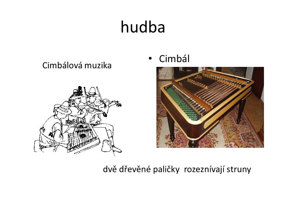 hudba Cimbál Cimbálová muzika dvě dřevěné paličky rozeznívají struny