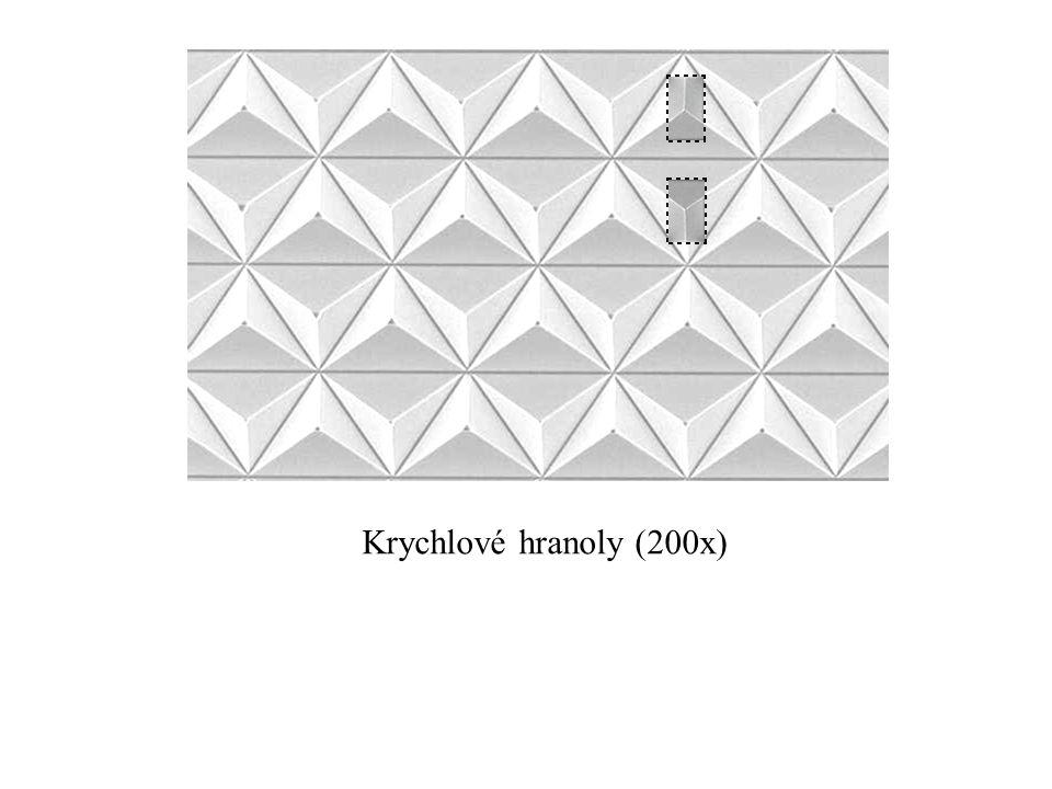 Krychlové hranoly (200x) Vytvoření optiky s plnými krychlovými hranoly