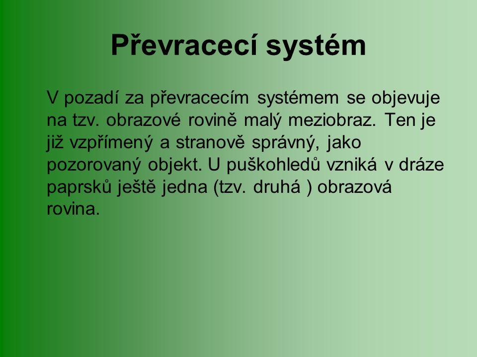 Převracecí systém V pozadí za převracecím systémem se objevuje na tzv.