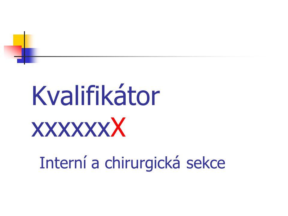 Kvalifikátor xxxxxxX Interní a chirurgická sekce