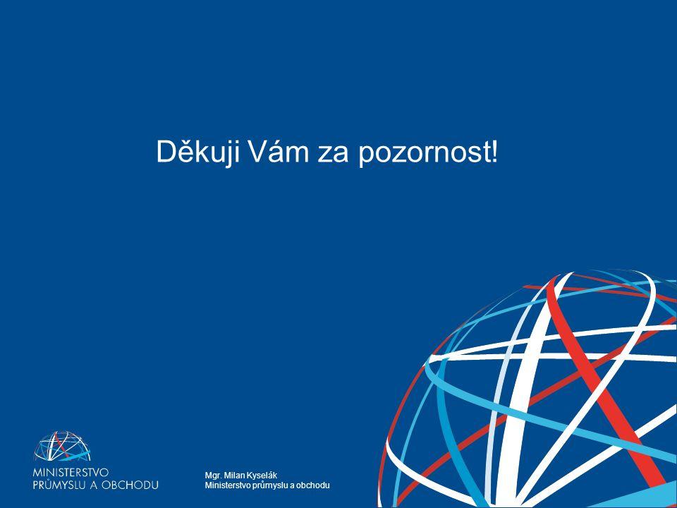 Mgr. Milan Kyselák Ministerstvo průmyslu a obchodu Energetické využívání odpadů z pohledu MPO Děkuji Vám za pozornost!