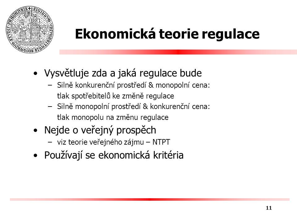 Structure-Conduct-Performance SCP princip –Každé odvětví je v podstatě situováno na pomyslné ose mezi dvěma extremními případy tj.