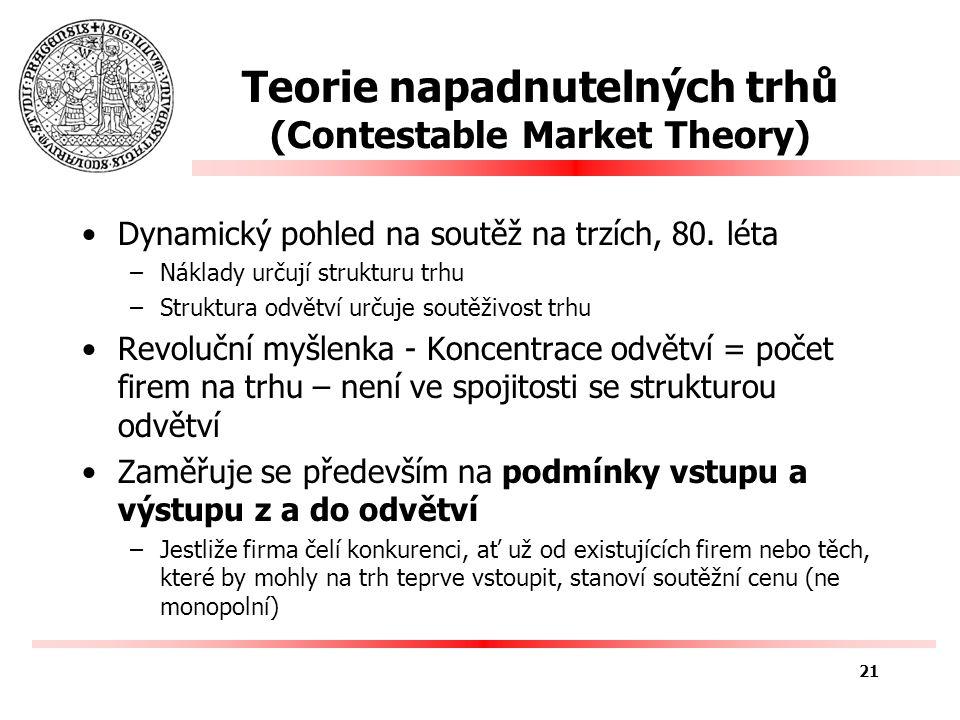 Historie antimonopolní politiky (USA) Antimonopolní politika –Zakazování určitých druhů hospodářského chování např.