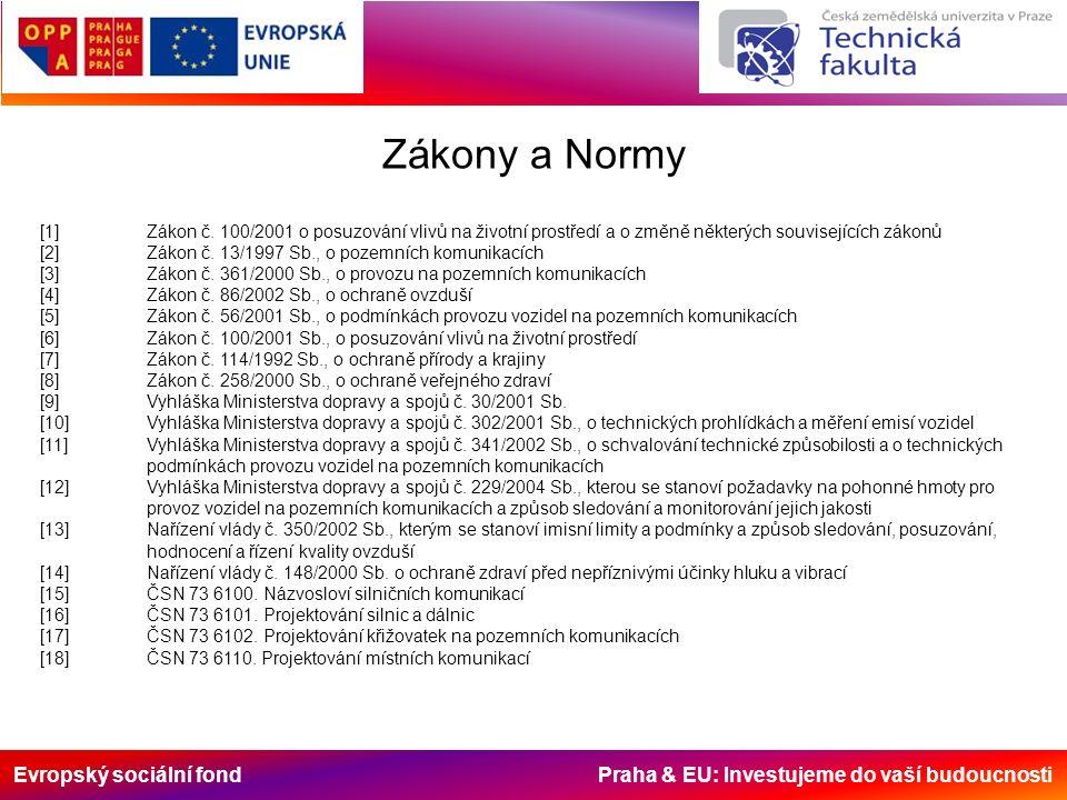 Evropský sociální fond Praha & EU: Investujeme do vaší budoucnosti Zákony a Normy [1]Zákon č.