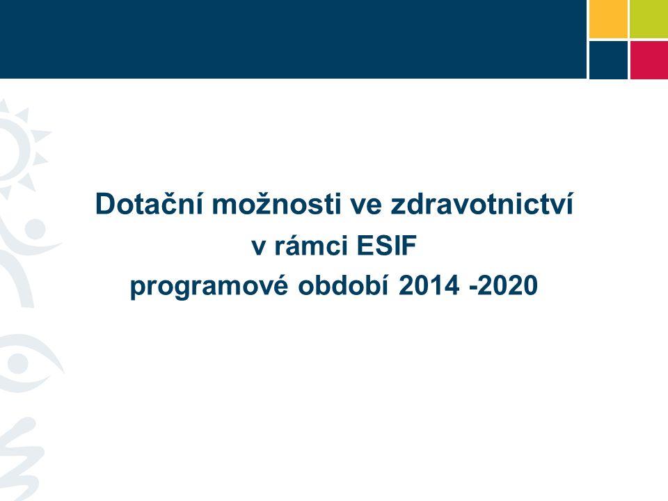 Dotační možnosti ve zdravotnictví v rámci ESIF programové období 2014 -2020