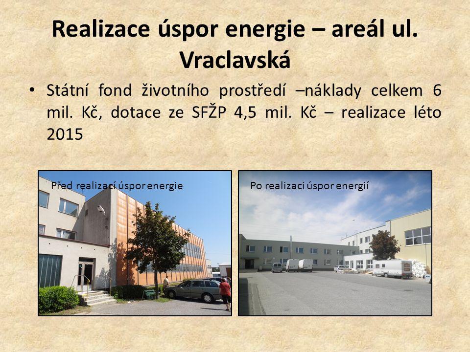 Realizace úspor energie – areál ul.