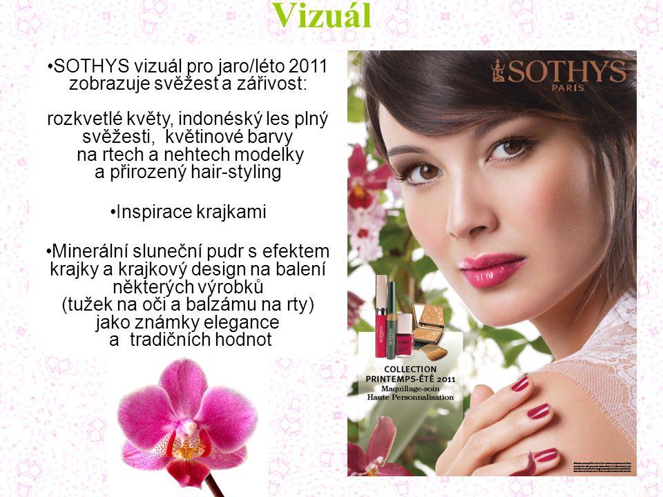 Vizuál SOTHYS vizuál pro jaro/léto 2011 zobrazuje svěžest a zářivost: rozkvetlé květy, indonéský les plný svěžesti, květinové barvy na rtech a nehtech