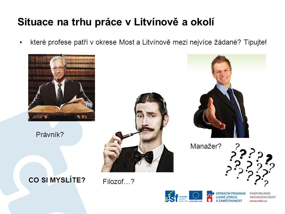 Situace na trhu práce v Litvínově a okolí které profese patří v okrese Most a Litvínově mezi nejvíce žádané.
