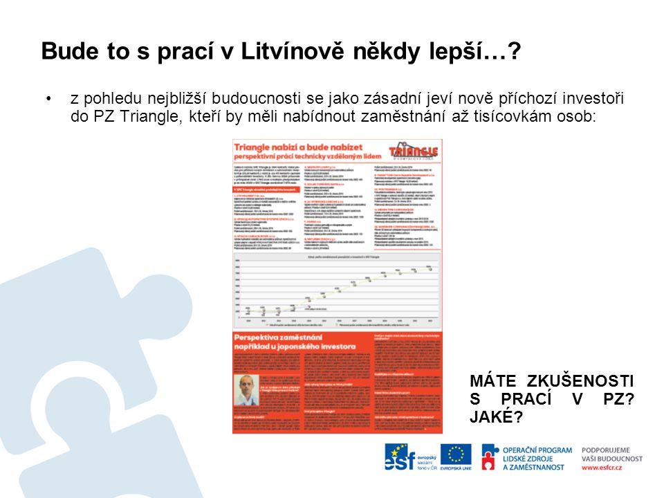 Bude to s prací v Litvínově někdy lepší….