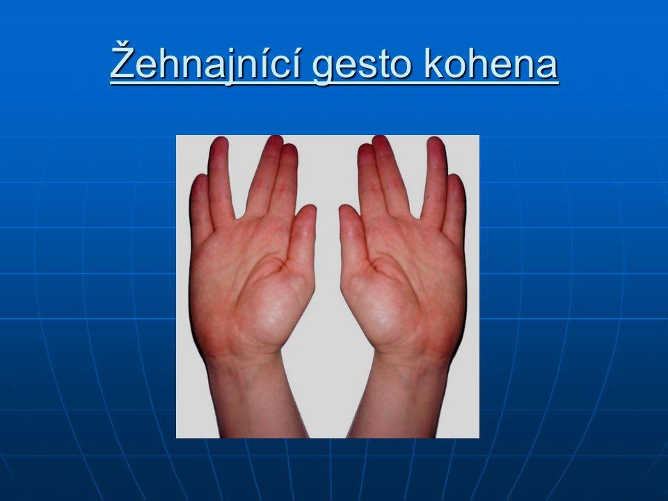 Žehnajnící gesto kohena