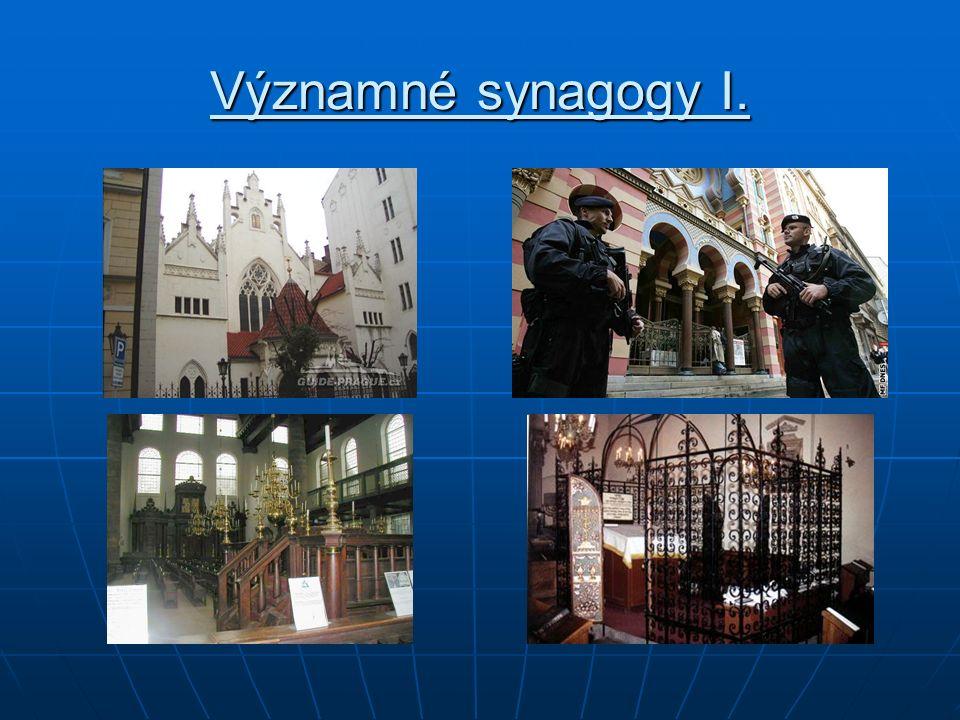 Významné synagogy I.