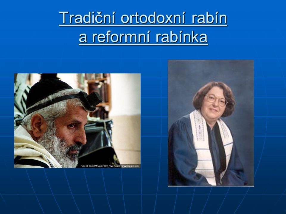Tradiční ortodoxní rabín a reformní rabínka