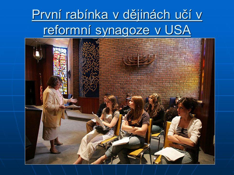 První rabínka v dějinách učí v reformní synagoze v USA