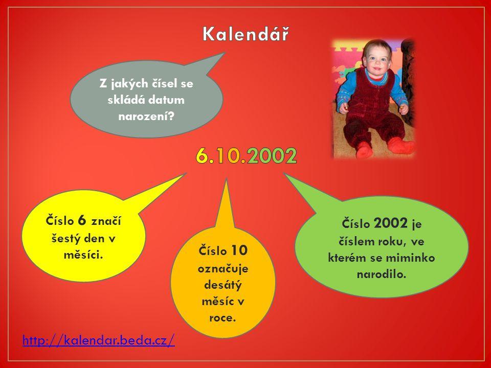 http://kalendar.beda.cz/ Z jakých čísel se skládá datum narození.