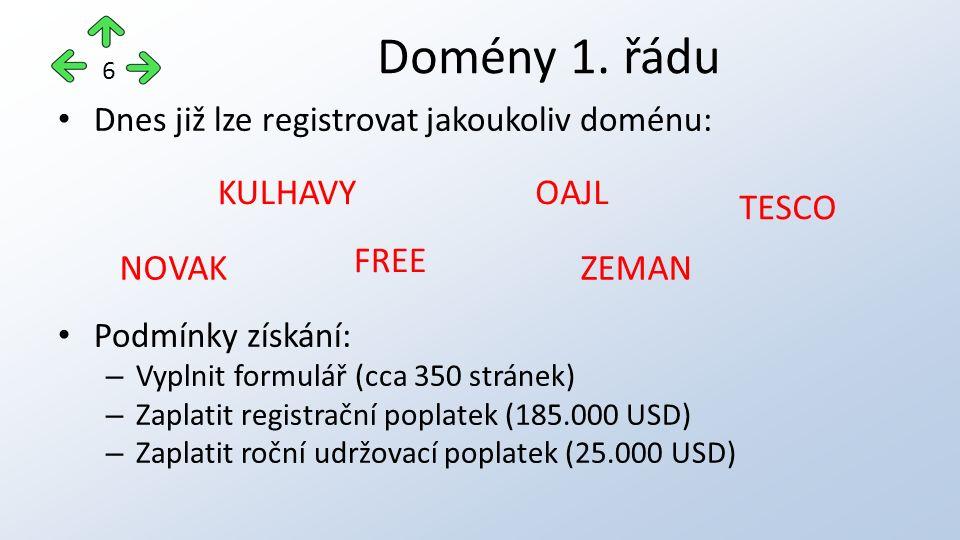 Hlavní část domény + doména 1.