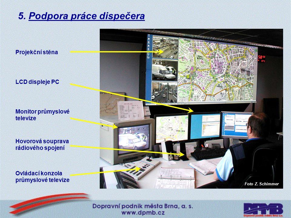5. Podpora práce dispečera SW - datový, grafický, fónický klient, sdílený elektronický radiodeník, programy typu office, dispečerský SW, jízdní řády,