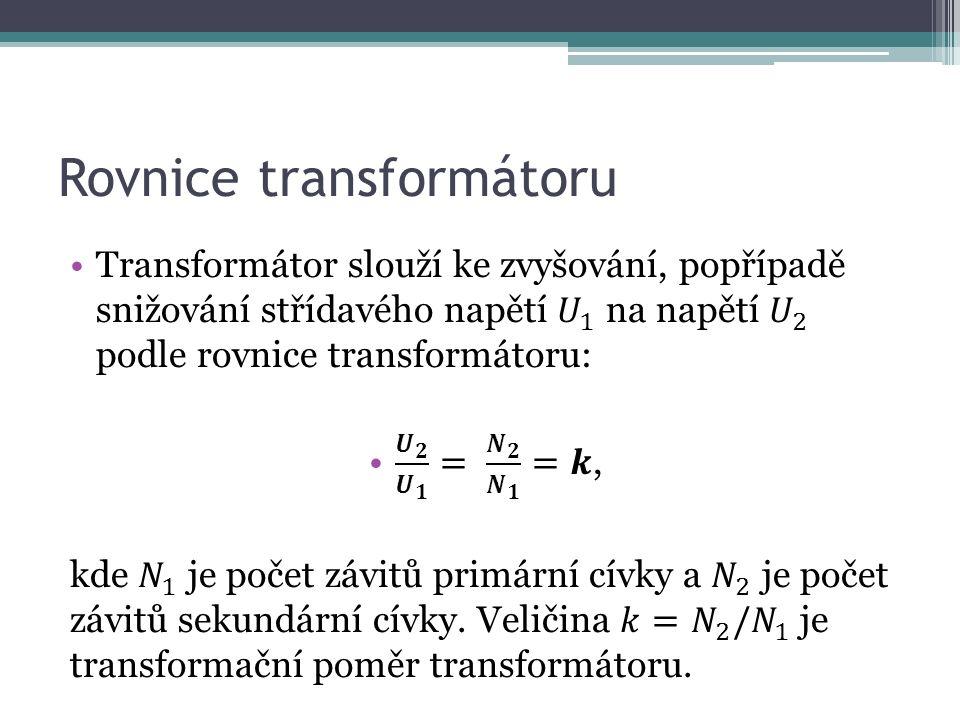 Rovnice transformátoru