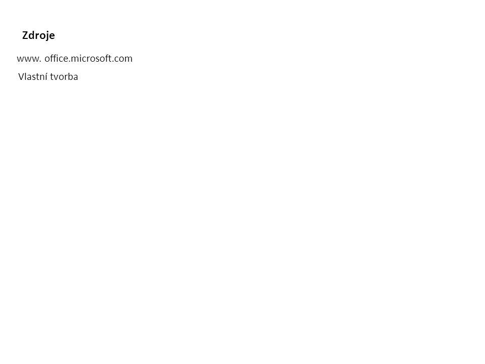 Zdroje www. office.microsoft.com Vlastní tvorba