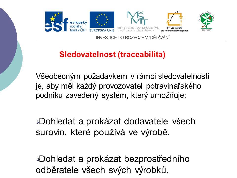 Monitorování potravin V České republice vykonávají státní dozor nad dodržováním povinností stanovených zákonem č.