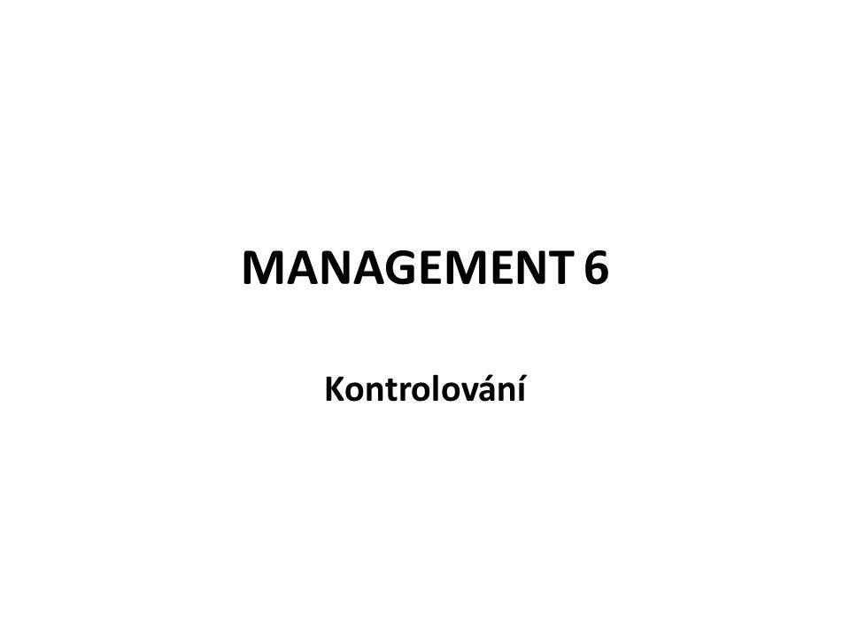 MANAGEMENT 6 Kontrolování