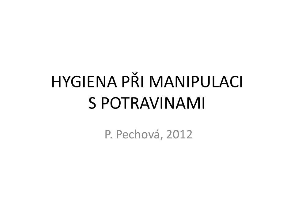 HYGIENA PŘI MANIPULACI S POTRAVINAMI P. Pechová, 2012