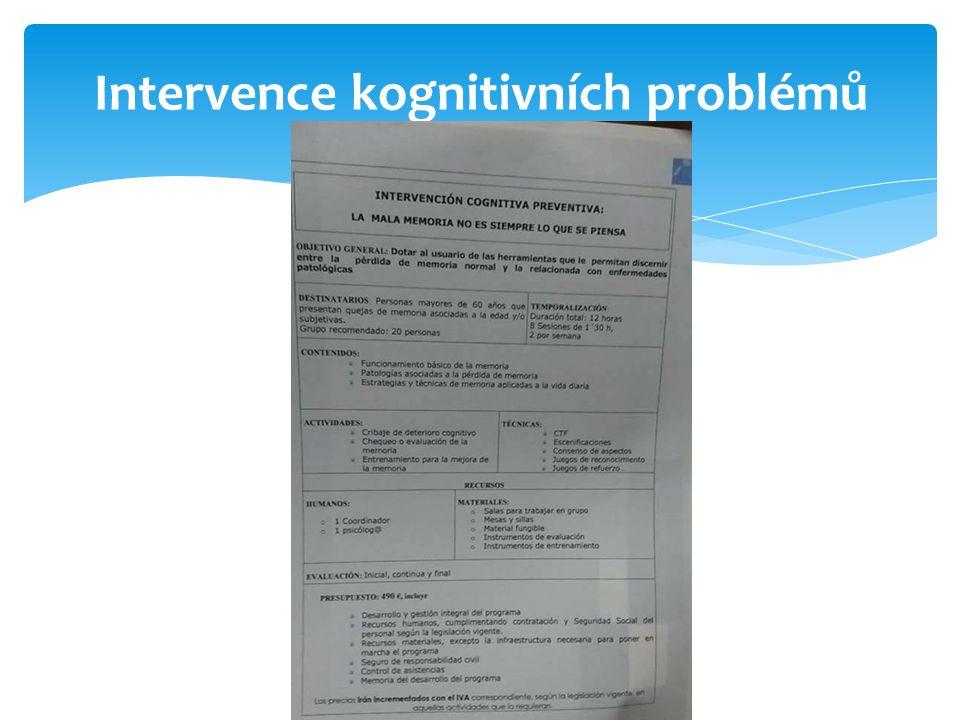 Intervence kognitivních problémů